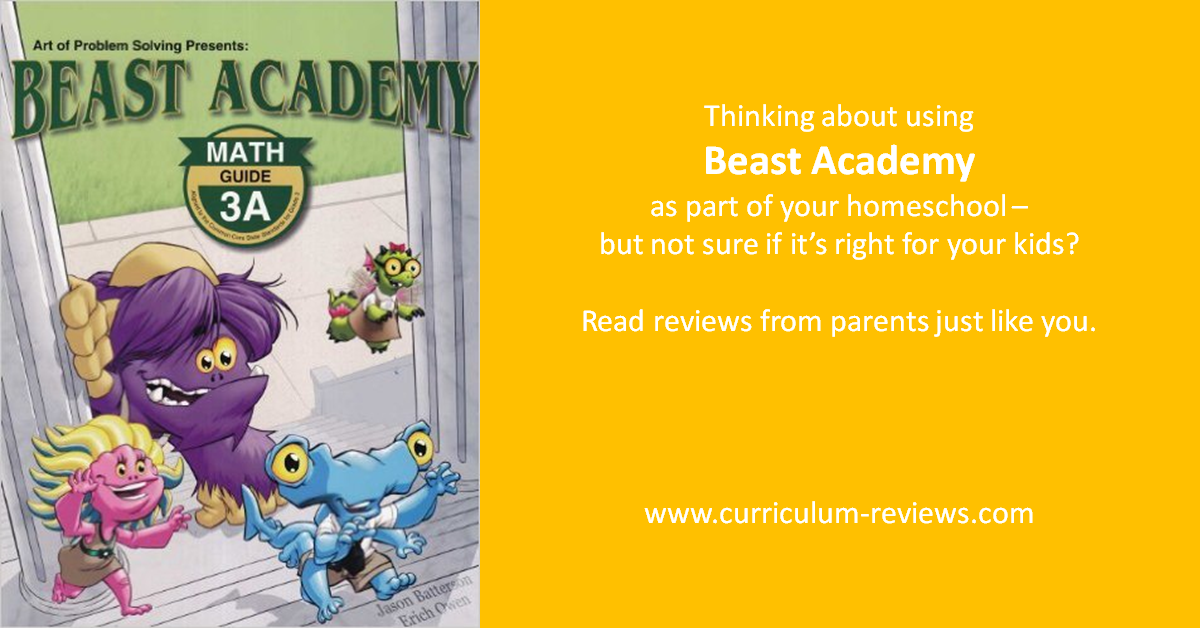beast academy homeschool curriculum review
